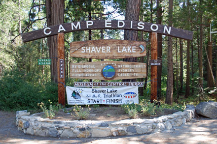 Photo of Camp Edison sign
