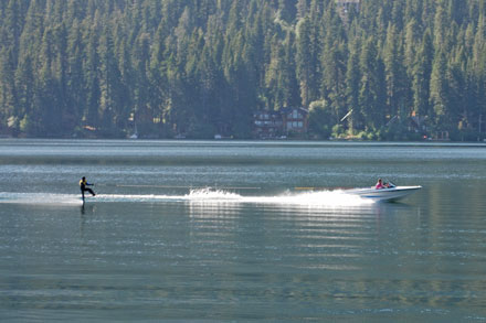 Photo of waterskier on Donner Lake, CA