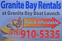 Photo of Photo of Granite Bay boat rentals sign